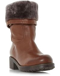 Dune - Tan 'roderik' Warm Lined Calf Boot - Lyst