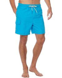 Red Herring - Big And Tall Bright Blue Cargo Swim Shorts - Lyst