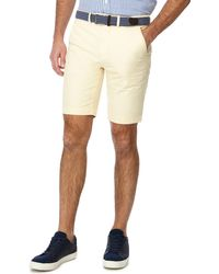 Racing Green - Yellow Belted Oxford Chino Shorts - Lyst