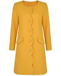 Fever - Mustard 'lilliana' Coat - Lyst