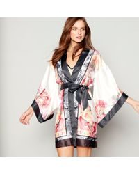 68c8836a5 Ted Baker - Light Pink Floral Print Satin  painted Posey  Kimono Dressing  Gown -