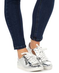 Faith - Silver 'kandy' Trainers - Lyst