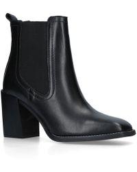 ALDO - Black 'grerasa' Mid Heel Ankle Boots - Lyst