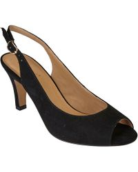 Lotus - Black Suedette 'sommer' High Stiletto Heel Slingbacks - Lyst