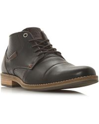 Dune - Brown 'chigwell' Lace Up Chukka Boots - Lyst