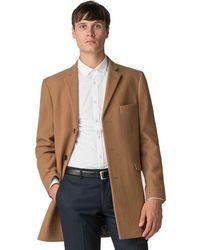 Ben Sherman - Camel Melton Overcoat - Lyst