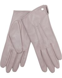 J By Jasper Conran - Mauve 3 Point Leather Gloves - Lyst
