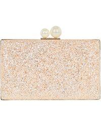 Coast - Rose Gold 'catalina' Glitter Box Bag - Lyst
