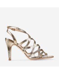 36a4434c58e Dorothy Perkins Silver  sicily  Platform Sandals in Metallic - Lyst