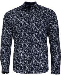 Raging Bull - 2 Colour Navy Floral Print Shirt - Lyst