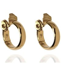 Anne Klein - Gold Tone Large Hoop Earrings - Lyst
