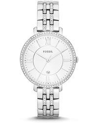 Fossil - Ladies Silver Bracelet Watch Es3545 - Lyst