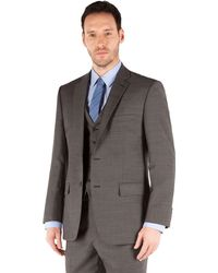 Racing Green - Charcoal Pick And Pick Regular Fit 2 Button Suit Jacket - Lyst