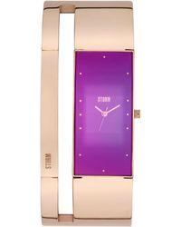 Storm - Ladies Rose Gold And Purple Alvara Watch - Lyst