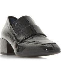 7a3cf450cc Burberry Women's Ambridge Leather High Block-heel Loafers in Black ...