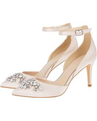 97bb8c4c9 Monsoon - Pink  tabby  Two Part Jewelled Point Heels - Lyst
