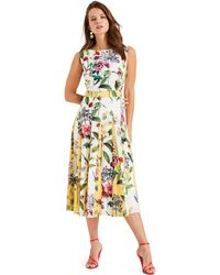 Phase Eight - White Trudy Patched Floral Dress - Lyst