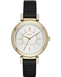 DKNY - Ladies Ellington Leather Strap Watch - Lyst