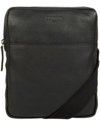 Cultured London - Black 'hop' Leather Despatch Bag - Lyst