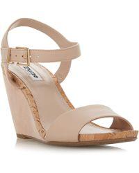 Dune - Light Pink 'kezsha' High Wedge Heel Ankle Strap Sandals - Lyst