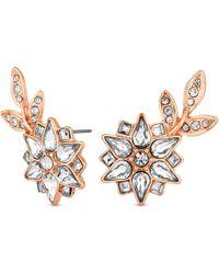 Jenny Packham - Designer Crystal Flower Statement Earrings - Lyst