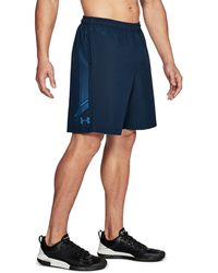 Under Armour - Navy Blue Graphic Woven Shorts - Lyst