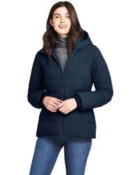 a9a9610556e lands-end-Navy-Blue-Hooded-Faux-Fur-Lined-Down-Jacket-With-Stretch.jpeg