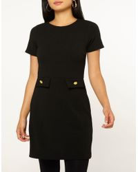 Dorothy Perkins - Petite Black Fit And Flare Dress - Lyst