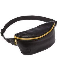 Mi-Pac - Black Tumbled Leatherette Bumbag - Lyst