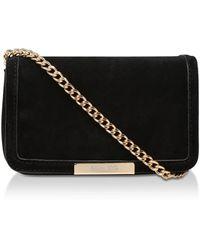 Miss Kg 'honey' Suedette Messenger Bag - Black