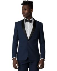 Red Herring - Sapphire Tuxedo Slim Fit Jacket - Lyst