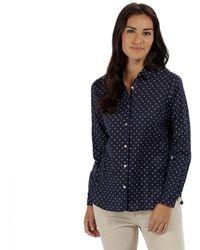 Regatta - Blue 'meena' Long Sleeved Shirt - Lyst