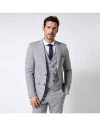 639d248bd912 The Kooples Highlight Prince Of Wales Check Suit Jacket in Gray for ...