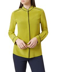 Hobbs - Chartreuse 'dotty' Blouse - Lyst