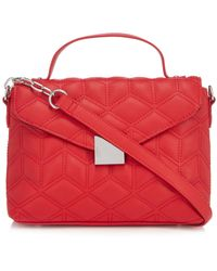 Faith - Red Quilted Cross Body Bag - Lyst