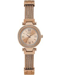Guess - Ladies Rose Gold Analogue Watch W1009l3 - Lyst