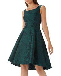 74bb0f6f Coast - Forest Green 'ava May' Jacquard High Low Dress - Lyst