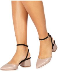 a568cc67f4d3 Faith - Natural  carly  Mid Block Heel Pointed Shoes - Lyst