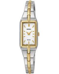 Seiko - Women's Solar Two Tone Bracelet Watch Sup272p9 - Lyst