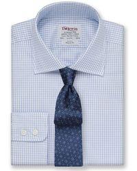 Tm Lewin - Regular Fit Blue Check Twill Long Sleeve Length Shirt - Lyst