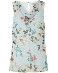 Dorothy Perkins - Billie & Blossom Tall Sage Floral Print Top - Lyst