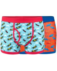 Red Herring - Pack Of Two Car And Plane Print Keyhole Trunks - Lyst