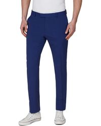 Red Herring - Bright Blue Slim Fit Suit Trousers - Lyst