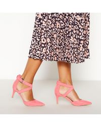 Faith - Pink Suedette 'caff' High Stiletto Heel Pointed Toe Shoes - Lyst