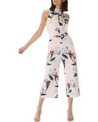 Coast - Floral Printed 'campbell' Scuba Jumpsuit - Lyst