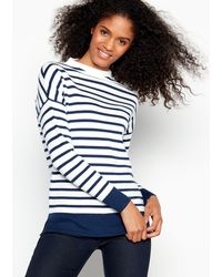 984ddbf6896325 Orcival Breton-Striped Cotton Sweater in Blue - Lyst