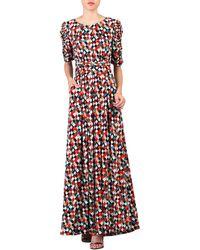 Jolie Moi - Multicoloured Print Half Sleeve Maxi Dress - Lyst