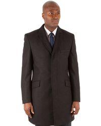 Ben Sherman - Blue Tonal Check 3 Button Kings Slim Fit Overcoat - Lyst