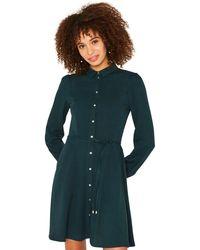 f9e5b79d59c4 Oasis - Dark Green Skater Shirt Dress - Lyst