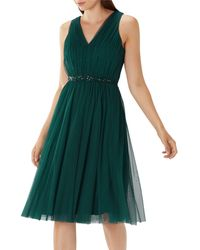 Coast - Forest Green 'lucinda' Embellished Tulle Dress - Lyst